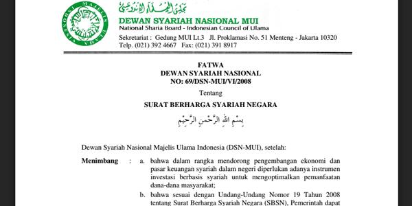 Fatwa Dewan Syariah Nasional No 69dsn Muivi2008 Tentang