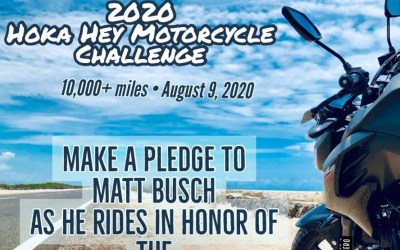 Matt Busch, will ride his motorcycle 10,000+ MILES across the country in honor of the MPS SuperHero Foundation