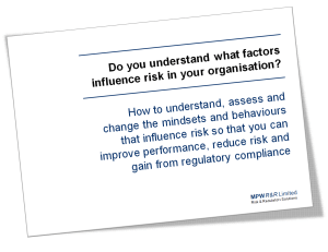 Free download of MPW R&R Organisational Risk Report