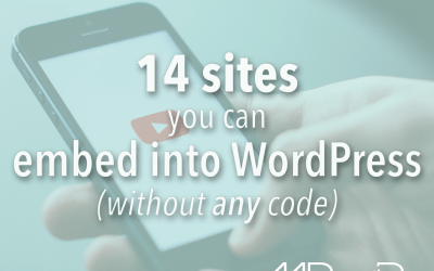 14 sites you can embed into WordPress without any code