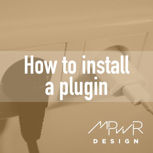 How to install a plugin