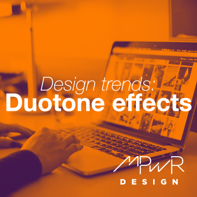 Design trends: Duotone effects and gradient designs