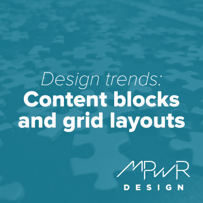 Design trends: Content blocks and grid layout designs