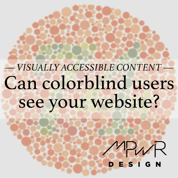 Can colorblind users see your website?