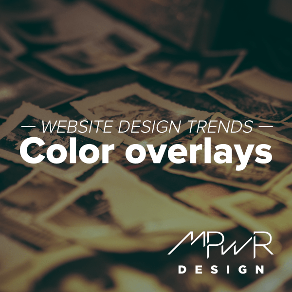 Website design trends: Color overlays
