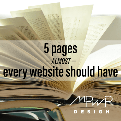 5 pages almost every website should have