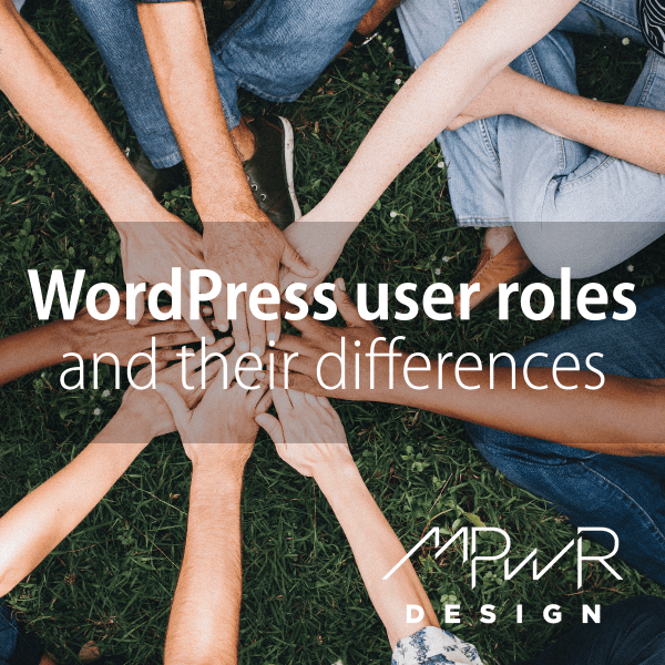 WordPress user roles and their differences