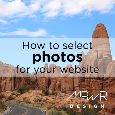 How to select photos for your website