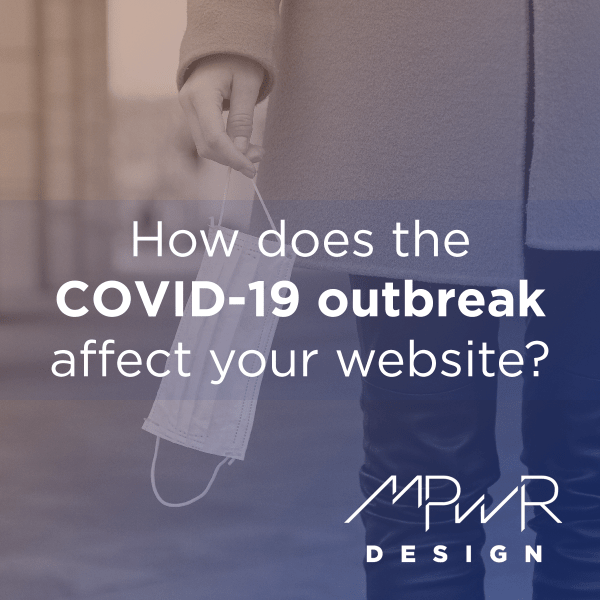 How does the COVID-19 outbreak affect your website?