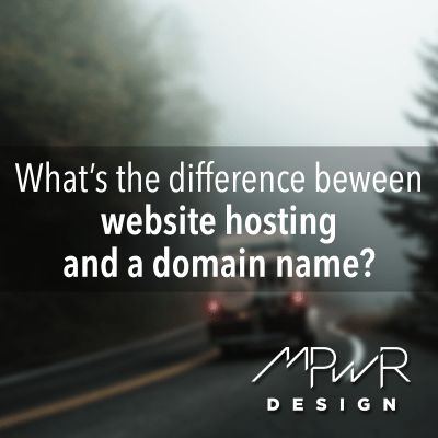 What's the difference between website hosting and a domain name?