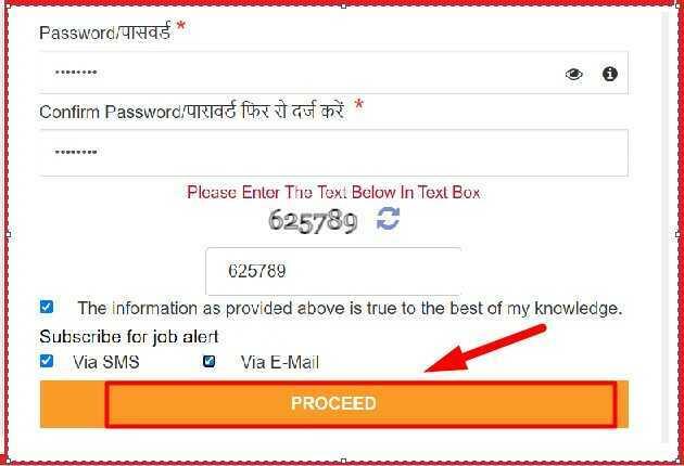 select user name and passoword for mp rojgar portal regastration