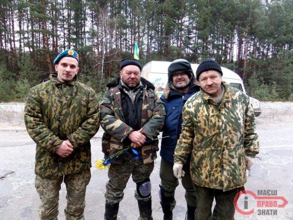 Броварчани-добровольці Леонід, Віктор, Дмитро, Микола