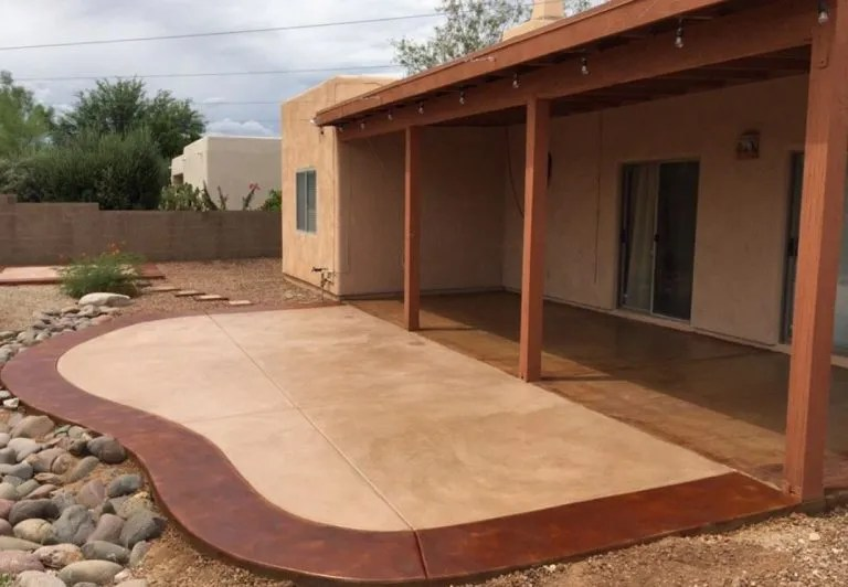 stamped concrete patio in mesquite tx
