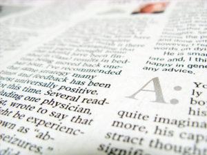書類の山から出てきた英字新聞