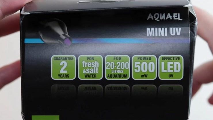 Aquael Mini filtre UV - LED UV - 500mW - 20à 200litres