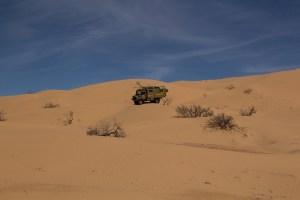 Rinding a Merc in the desert