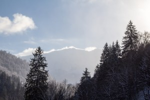 Clouds teasing the summits