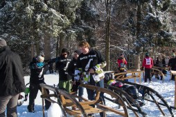 Final preparation of the runners - or just a safe way to store the sledge
