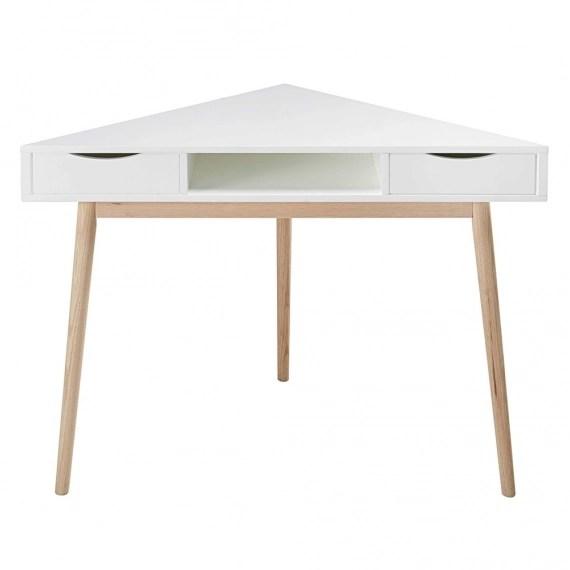 bureau d angle vintage blanc artic
