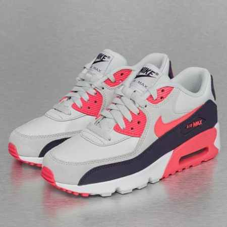 Nike Air Max 90 Leather (GS) Sneakers Pure Platinum/Ember Glow/Purple Dynasty