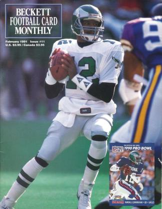 #11 February 1991-Randall Cunningham Football Becketts