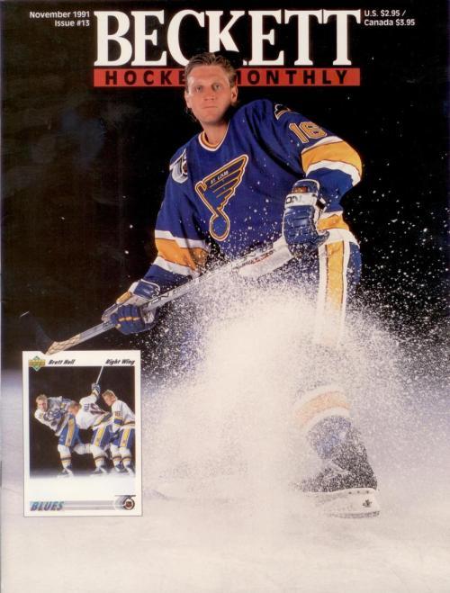 #13 November 1991-Bret Hull Hockey Beckett