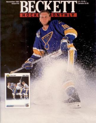 #13 November 1991-Bret Hull Hockey Becketts