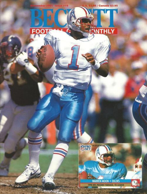 #18 September 1991-Warren Moon Football Beckett