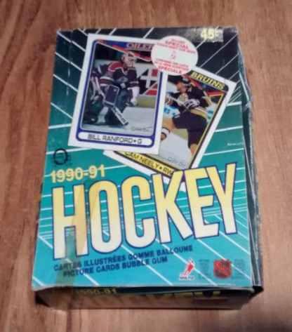 1990-91 O Pee Chee OPC Hockey Box RUSSIAN INSERT