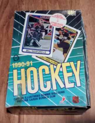 1990-91 O Pee Chee OPC Hockey Box RUSSIAN INSERT