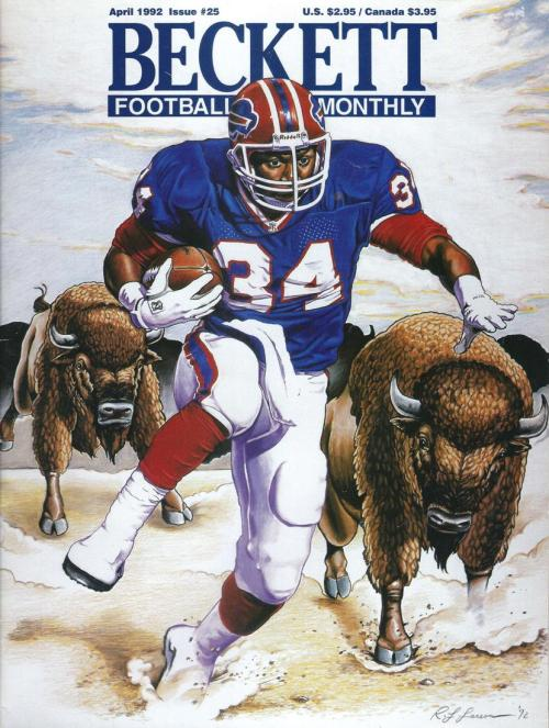 #25 April 1992-Randall Cunningham Football Beckett