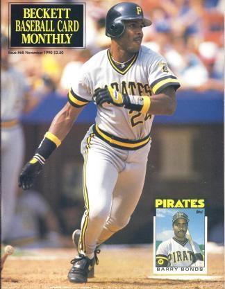 #68 November 1990-Barry Bonds Baseball Becketts