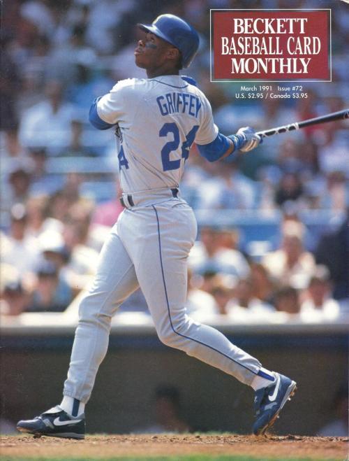 #72 March 1991-Ken Griffey Jr. Baseball Beckett