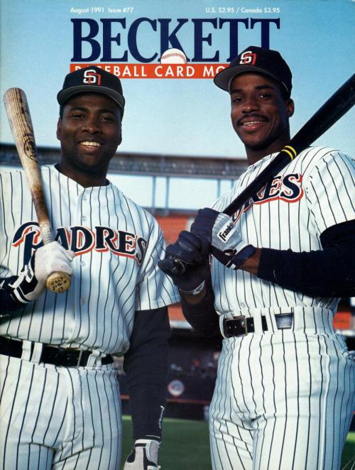 #77 August 1991-Fred McGriff/Tony Gwynn Baseball Beckett