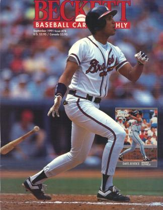 #78 September 1991-Dave Justice Baseball Becketts