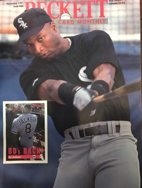 #80 November 1991-Bo Jackson Baseball Beckett