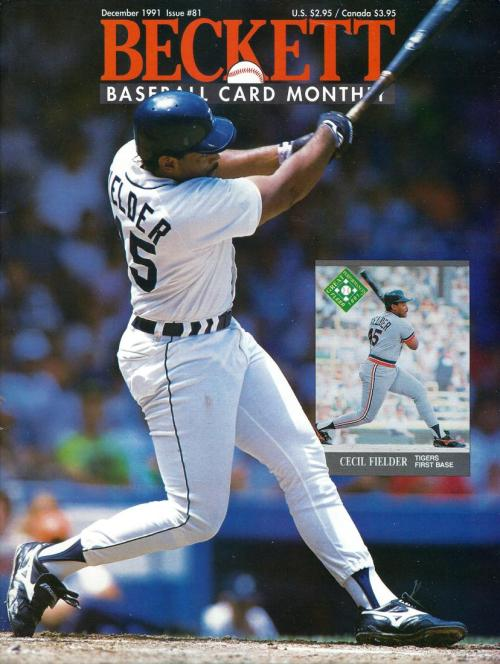 #81 December 1991-Cecil Fielder Baseball Beckett