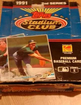 1991 Topps Stadium Club Series 2 Baseball Box