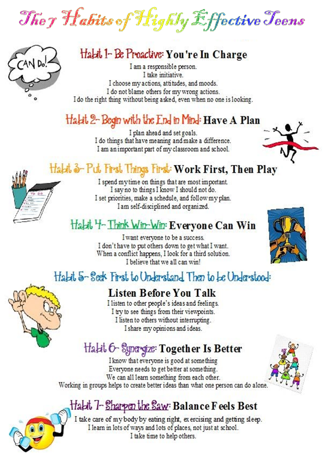 Stephen Covey 7 Habits Worksheets