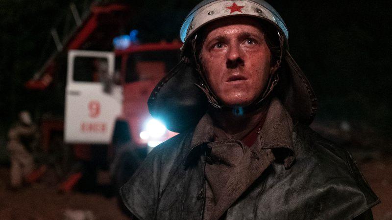 Risultati immagini per chernobyl tv series images vigile fuoco