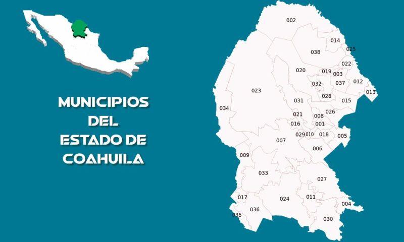 Municipios Estado de Coahuila