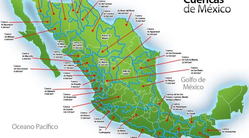 Lagos, Lagunas y Vertiente del Océano Pacífico