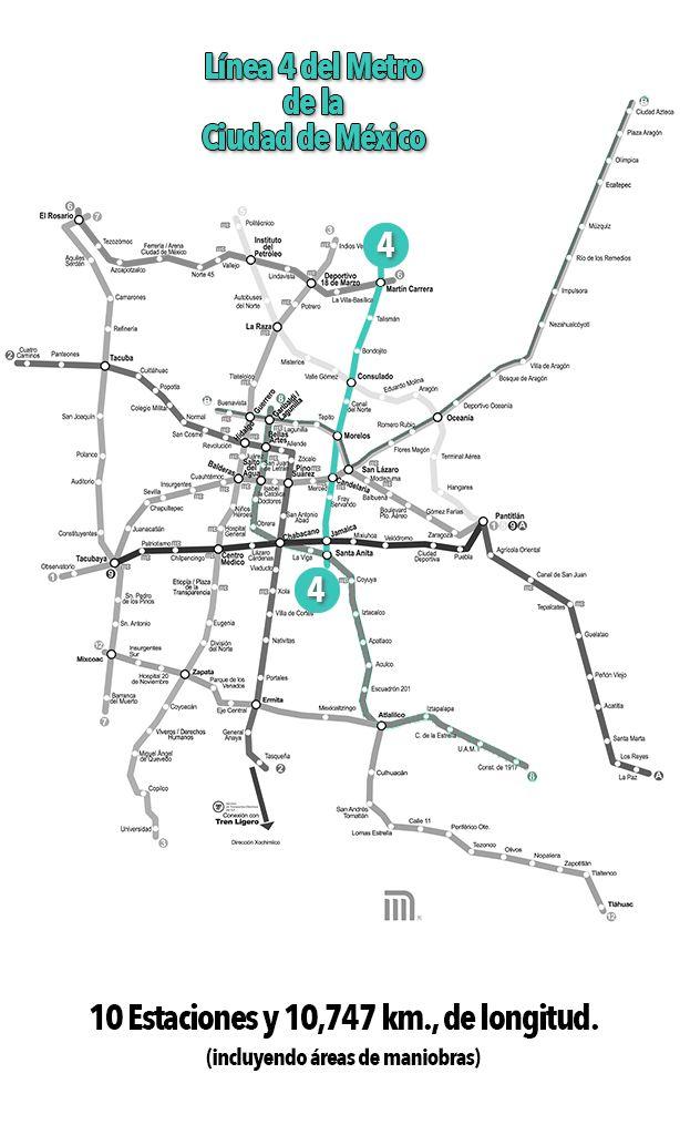 Línea 4 del Metro de la CDMX