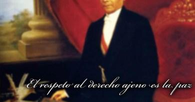 El respeto al derecho ajeno es la Paz: Benito Juárez
