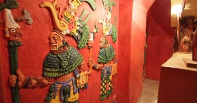 Réplica de un fresco Maya
