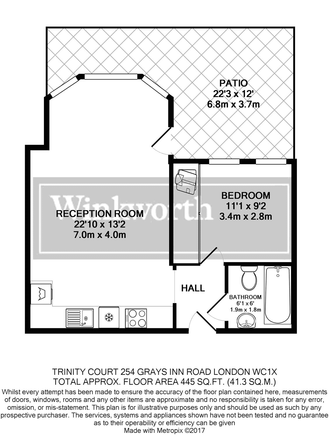1 Bedroom Property To Rent In Trinity Court Grays Inn Road Clerkenwell Wc1x