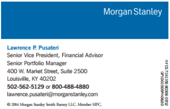 NEW Morgan Stanley