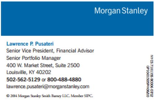 NEW Morgan Stanley