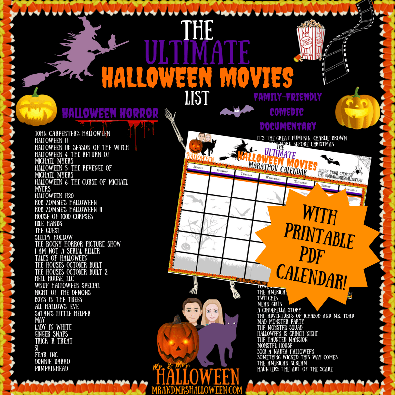 The Ultimate Halloween Movies List 70 Movies To Spook Yourself This Halloween