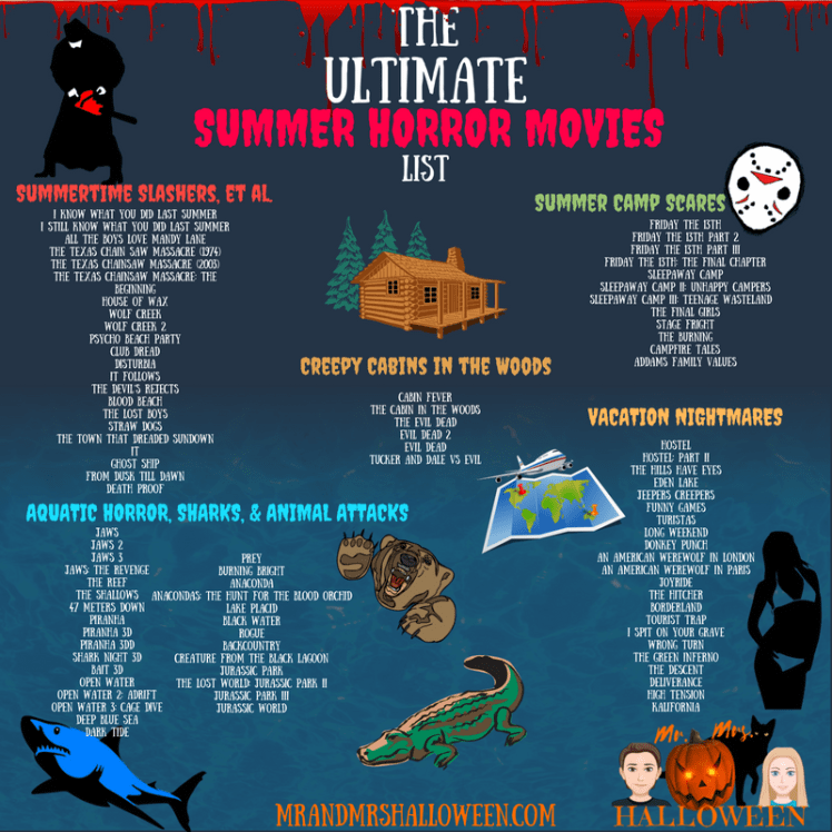 The Ultimate Summer Horror Movies List - Mr  and Mrs  Halloween